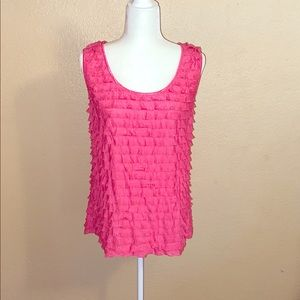 Hot Pink Frilly Tank Top